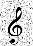 иллюстрация g clef схематическая Стоковые Фотографии RF