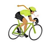 иллюстрация girlzilla велосипедиста Стоковое Изображение