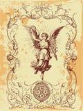 иллюстрация grunge ангела Стоковые Фотографии RF