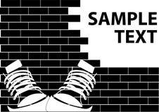 иллюстрация grunge надписи на стенах Стоковые Фотографии RF