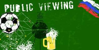 Иллюстрация grunge просмотра футбола/футбола общественная, internatio Стоковая Фотография RF