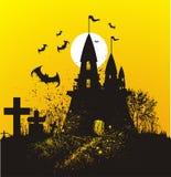 иллюстрация halloween замока бесплатная иллюстрация