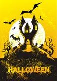 иллюстрация halloween замока иллюстрация штока