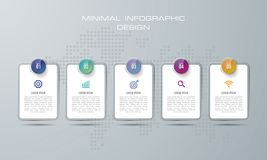 Иллюстрация Infographic конспекта 3D цифровая использованный для плана потока операций, диаграмма, варианты номера, веб-дизайн r бесплатная иллюстрация
