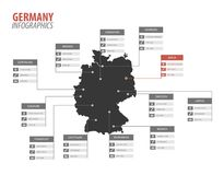 Иллюстрация infographics формы карты Германии иллюстрация штока