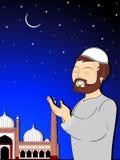 иллюстрация mubarak eid торжества Стоковые Фотографии RF