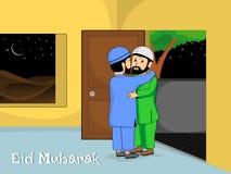 иллюстрация mubarak eid торжества Стоковая Фотография RF
