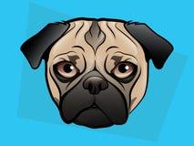 Иллюстрация Pug Стоковое Фото