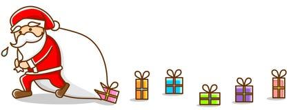 иллюстрация santa Стоковое Изображение