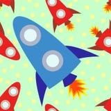 Иллюстрация Tileable корабля Rocket Стоковое Изображение