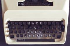 Имейте большое сообщение выходных Стоковые Изображения RF