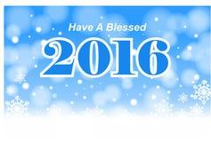 Имейте благословленный 2016 Стоковая Фотография
