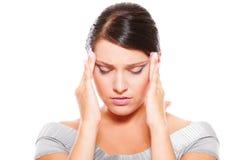 имейте детенышей женщины головной боли Стоковые Фотографии RF