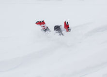 Имейте потеху в снеге стоковое изображение rf
