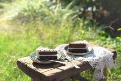Имейте торт внешний стоковая фотография rf