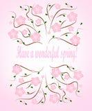 Имейте чудесную карточку весны Стоковые Изображения RF