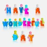 Имейте чудесный лозунг дня Стоковая Фотография RF