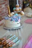Именниный пирог единорога Стоковое фото RF