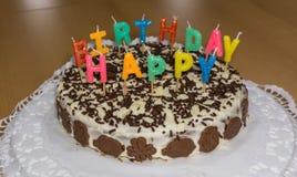 именниный пирог миражирует вектор иллюстрации день рождения счастливый Стоковое Изображение RF