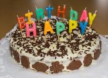 именниный пирог миражирует вектор иллюстрации С днем рождения еда Стоковое фото RF