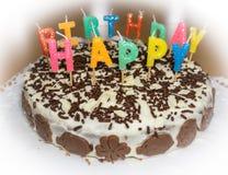 именниный пирог миражирует вектор иллюстрации С днем рождения объект еды Стоковое Изображение RF