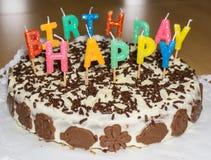 именниный пирог миражирует вектор иллюстрации С днем рождения объект еды Стоковые Изображения RF