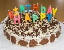 именниный пирог миражирует вектор иллюстрации С днем рождения объект еды Стоковое Изображение