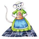 Именниный пирог мыши Стоковые Изображения