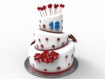 Именниный пирог на 18 лет Стоковое Изображение
