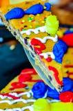 Именниный пирог печенья обломока шоколада стоковые изображения rf