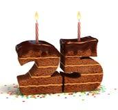 именниный пирог пятые 20 годовщины Стоковое Изображение RF