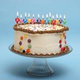 именниный пирог счастливый Стоковые Фотографии RF