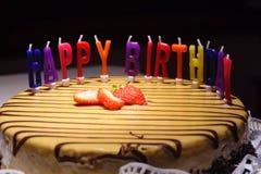 именниный пирог счастливый Стоковое Изображение RF