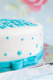 Именниный пирог с текстом mastic Стоковые Изображения RF