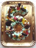 Именниный пирог с 6 стоковые изображения