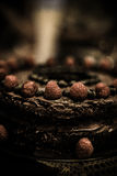 Именниный пирог шоколада Стоковое Изображение