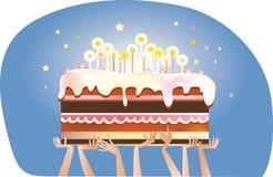 Именниный пирог иллюстрация штока