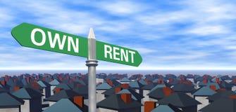 Иметь или арендовать знак с домами бесплатная иллюстрация