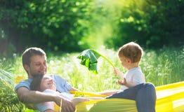 иметь потехи семьи счастливый Стоковое Фото
