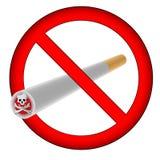 имеющаяся форма ai отсутствие курить знака Стоковое фото RF
