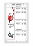 имеющееся вино вектора списка конструкции иллюстрация вектора