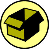 имеющийся вектор пустого архива картона коробки Стоковое Изображение RF