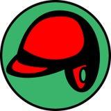 имеющийся вектор шлема трудного шлема бейсбола Стоковая Фотография RF