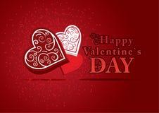 имеющийся вектор valentines архива дня карточки Стоковая Фотография