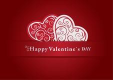 имеющийся вектор valentines архива дня карточки Стоковое Изображение RF