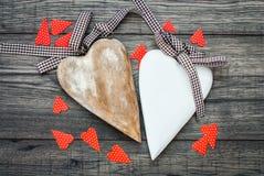 имеющийся вектор valentines архива дня карточки Декоративная винтажная предпосылка с сердцем Стоковая Фотография RF