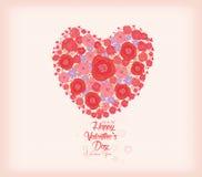имеющийся вектор valentines архива дня карточки Яркие цветки в форме предпосылки сердца иллюстрация штока
