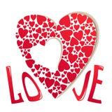 имеющийся вектор valentines архива дня карточки Стоковое Изображение