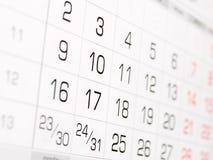 имеющийся календар больше стены серии страниц Стоковые Изображения RF