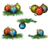 имеющийся комплект JPEG форм рождества eps8 baubles Стоковые Фотографии RF